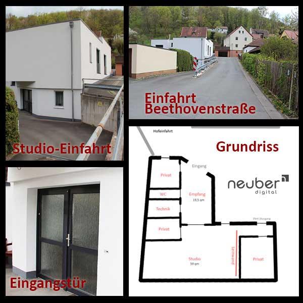 Anfahrtsskizze Neuber Digital in Kulmbach Oberfranken